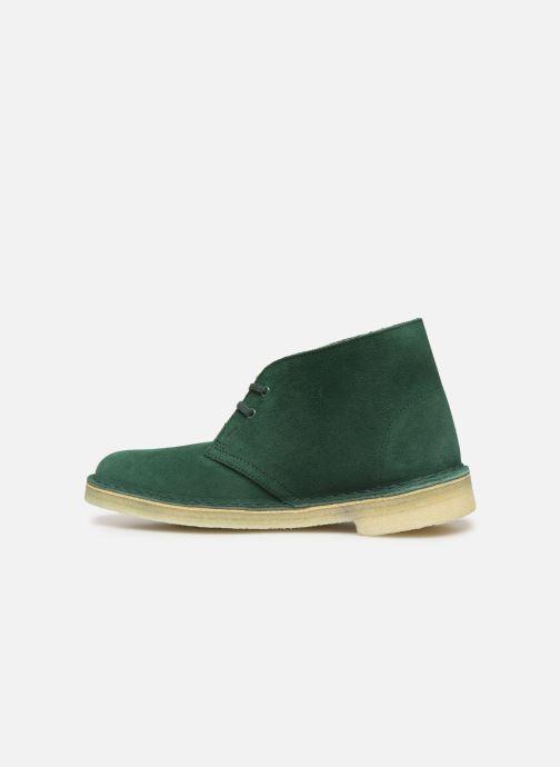 Botines  Clarks Originals Desert Boot. Verde vista de frente