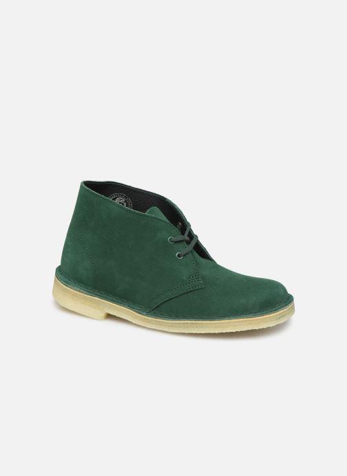 Ankelstøvler Clarks Originals Desert Boot. Grøn detaljeret billede af skoene
