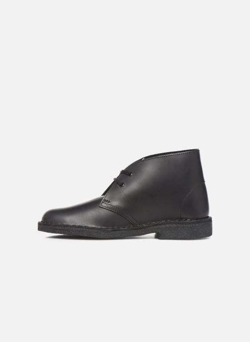Bottines et boots Clarks Originals Desert Boot. Noir vue face