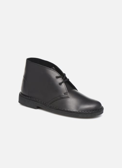 Ankle boots Clarks Originals Desert Boot. Black detailed view/ Pair view