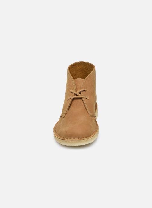 Bottines et boots Clarks Originals Desert Boot. Marron vue portées chaussures