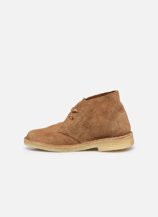 Botines  Clarks Originals Desert Boot. Marrón vista de frente