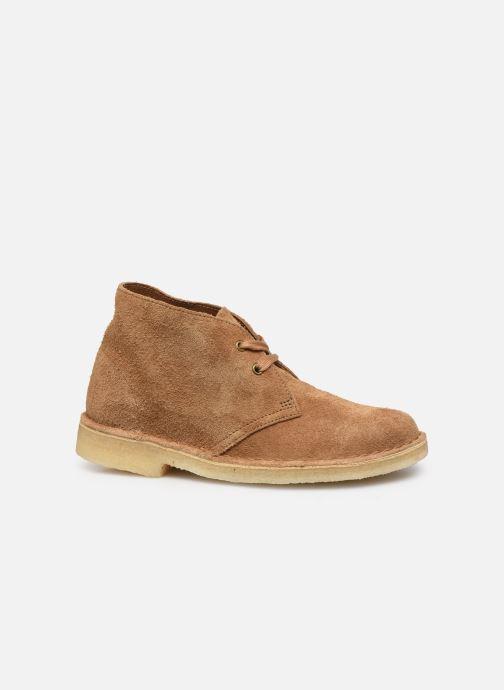 Botines  Clarks Originals Desert Boot. Marrón vistra trasera