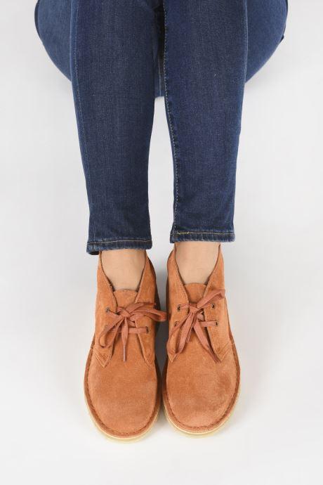 Botines  Clarks Originals Desert Boot. Naranja vista de abajo