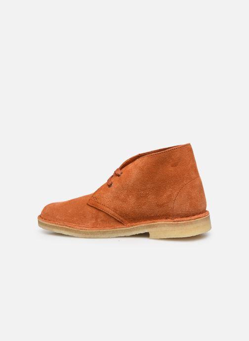 Botines  Clarks Originals Desert Boot. Naranja vista de frente