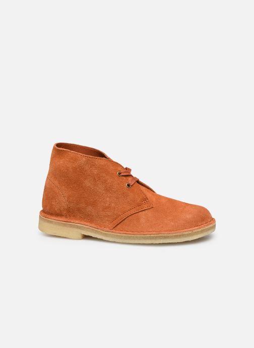 Botines  Clarks Originals Desert Boot. Naranja vistra trasera