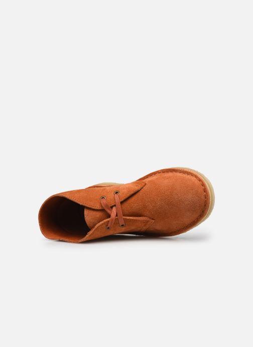 Botines  Clarks Originals Desert Boot. Naranja vista lateral izquierda