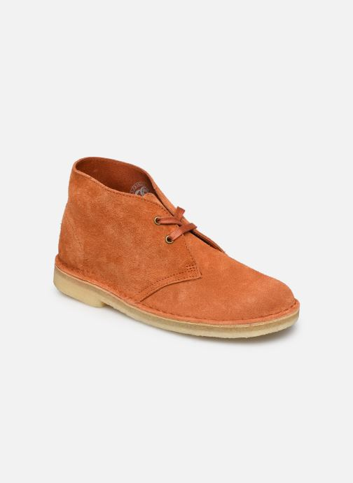 Botines  Clarks Originals Desert Boot. Naranja vista de detalle / par
