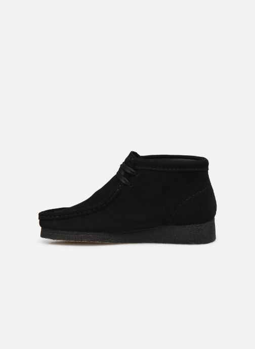 Botines  Clarks Originals Wallabee Boot. Negro vista de frente