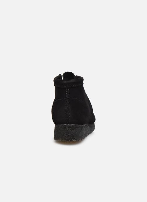 Botines  Clarks Originals Wallabee Boot. Negro vista lateral derecha