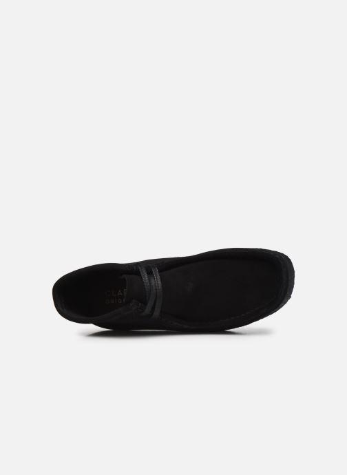 Botines  Clarks Originals Wallabee Boot. Negro vista lateral izquierda