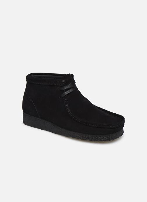 Botines  Clarks Originals Wallabee Boot. Negro vista de detalle / par