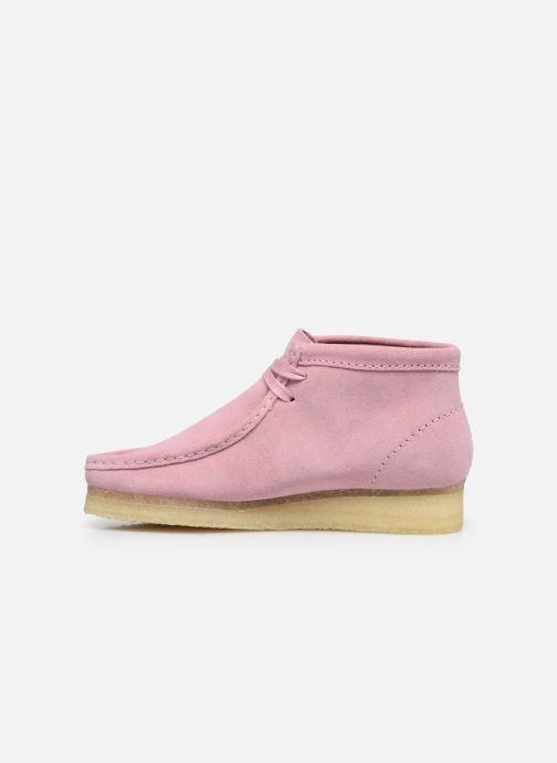 Botines  Clarks Originals Wallabee Boot. Rosa vista de frente