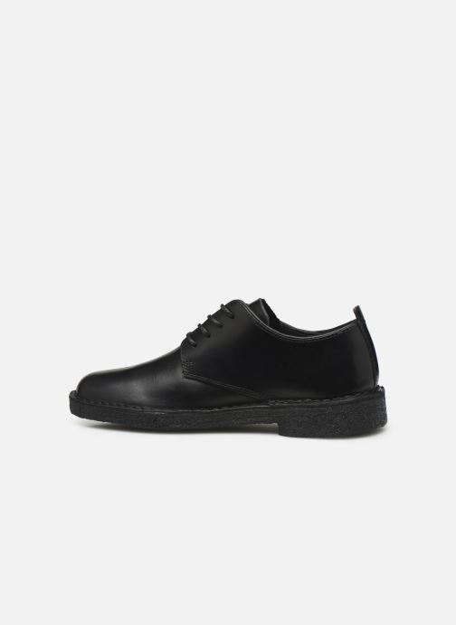 Chaussures à lacets Clarks Originals Desert London. Noir vue face