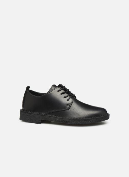 Chaussures à lacets Clarks Originals Desert London. Noir vue derrière
