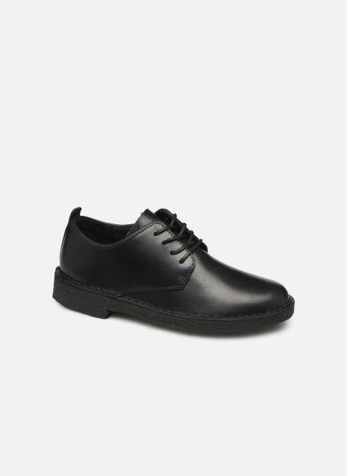 Lace-up shoes Clarks Originals Desert London. Black detailed view/ Pair view