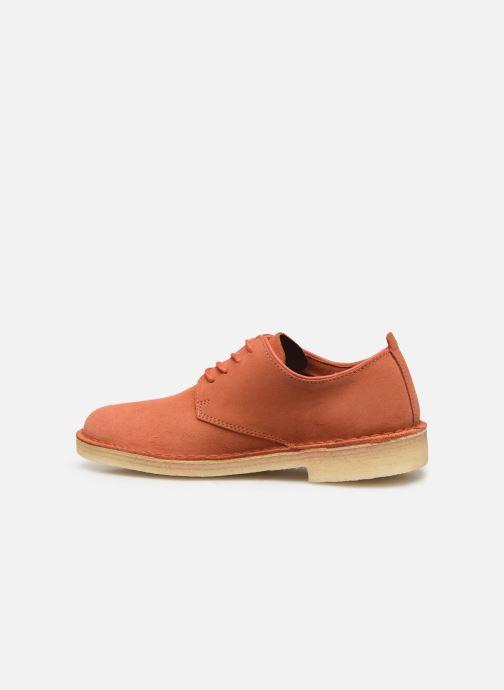Chaussures à lacets Clarks Originals Desert London. Orange vue face