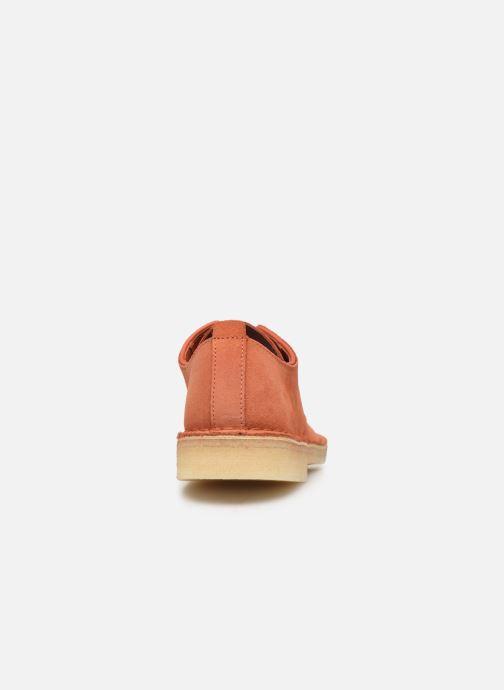 Chaussures à lacets Clarks Originals Desert London. Orange vue droite