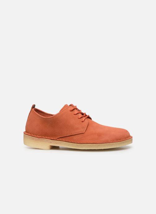 Chaussures à lacets Clarks Originals Desert London. Orange vue derrière