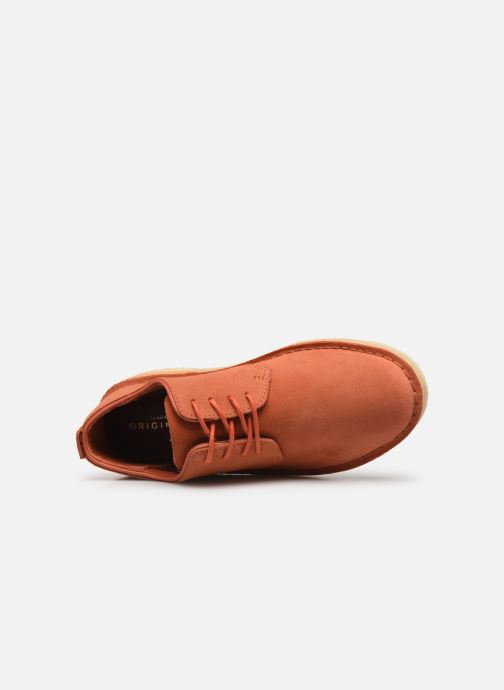 Lace-up shoes Clarks Originals Desert London. Orange view from the left