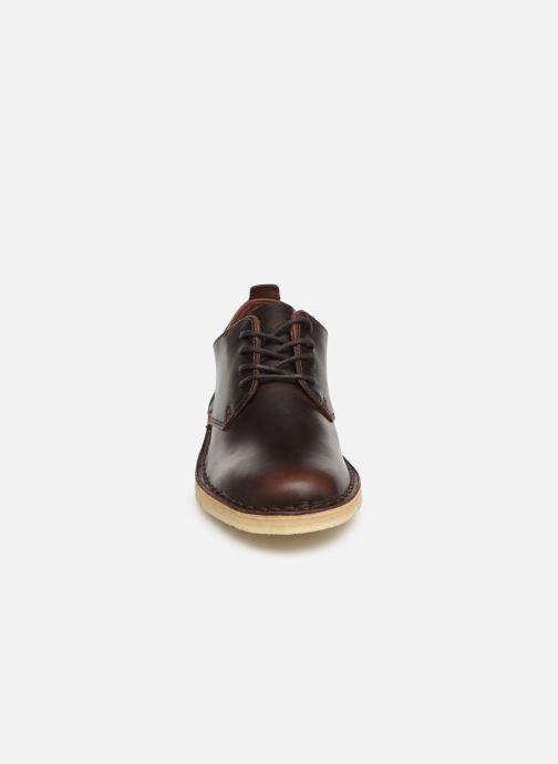 Lace-up shoes Clarks Originals Desert London. Brown model view