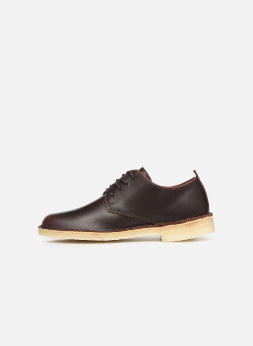 Lace-up shoes Clarks Originals Desert London. Brown front view