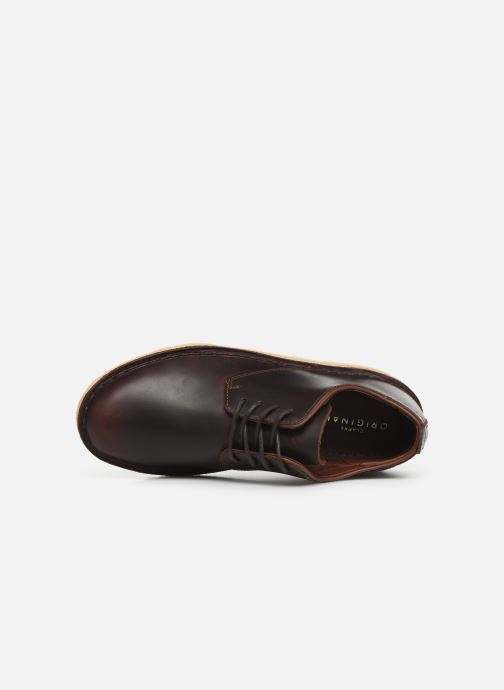 Lace-up shoes Clarks Originals Desert London. Brown view from the left