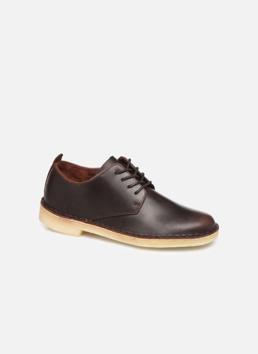 Lace-up shoes Clarks Originals Desert London. Brown detailed view/ Pair view