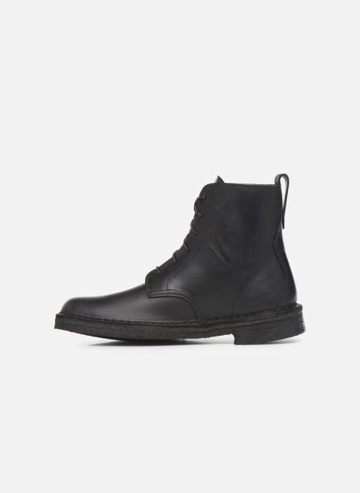 Boots en enkellaarsjes Clarks Originals Desert Mali. Zwart voorkant