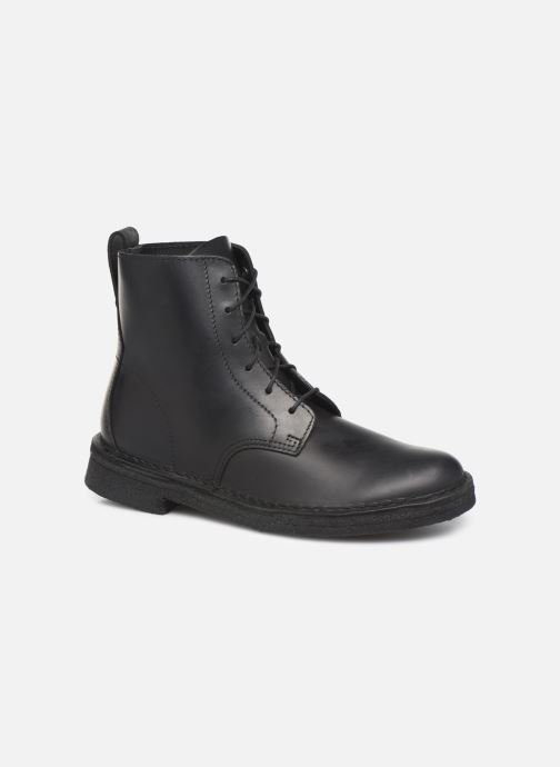 Ankle boots Clarks Originals Desert Mali. Black detailed view/ Pair view