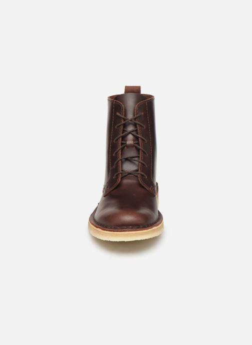 Bottines et boots Clarks Originals Desert Mali. Marron vue portées chaussures