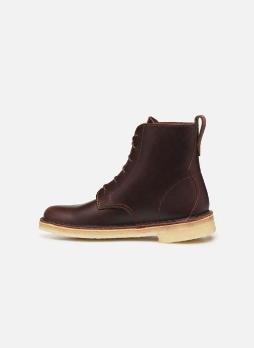 Boots en enkellaarsjes Clarks Originals Desert Mali. Bruin voorkant