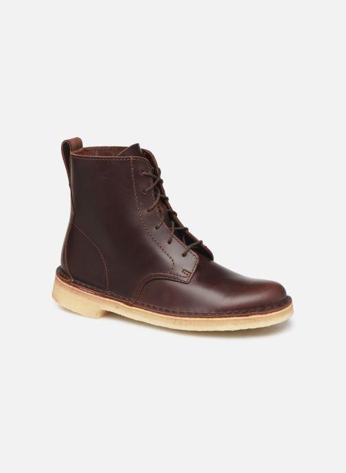 Bottines et boots Clarks Originals Desert Mali. Marron vue détail/paire