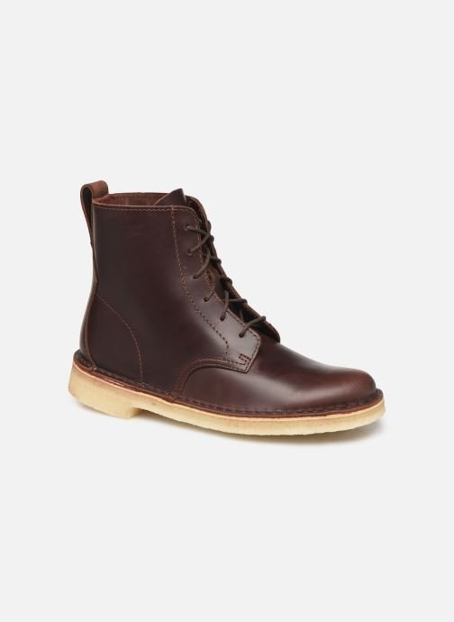 Bottines et boots Clarks Originals Desert Mali. Marron vue détail/paire