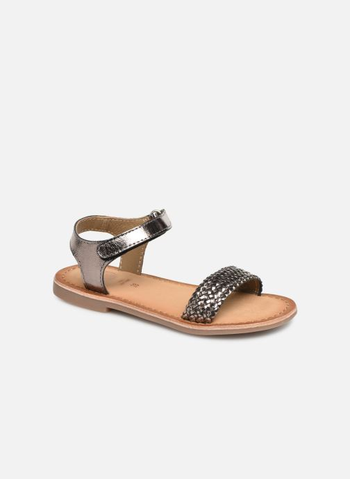 Sandals Gioseppo Chia Silver detailed view/ Pair view