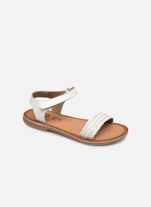 Sandals Gioseppo Chia White detailed view/ Pair view