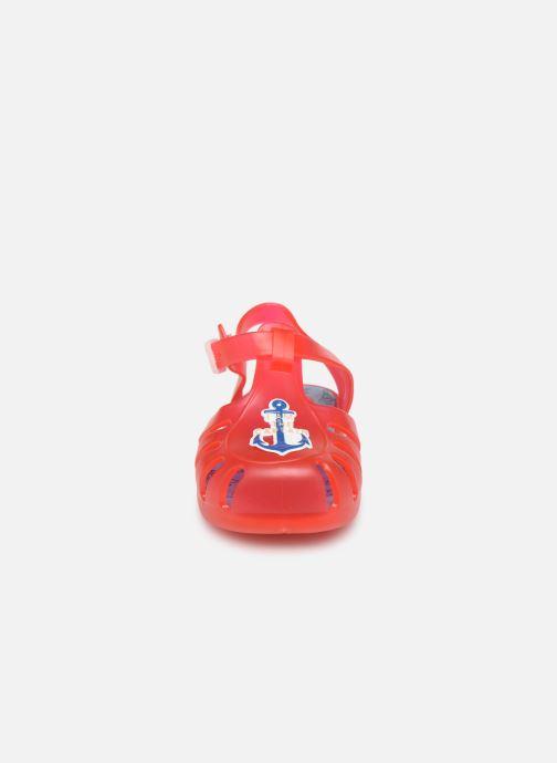 Sandalias Gioseppo Mare Rojo vista del modelo