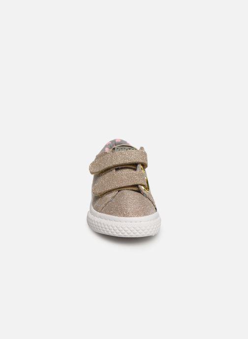 Baskets Gioseppo 43930 Or et bronze vue portées chaussures