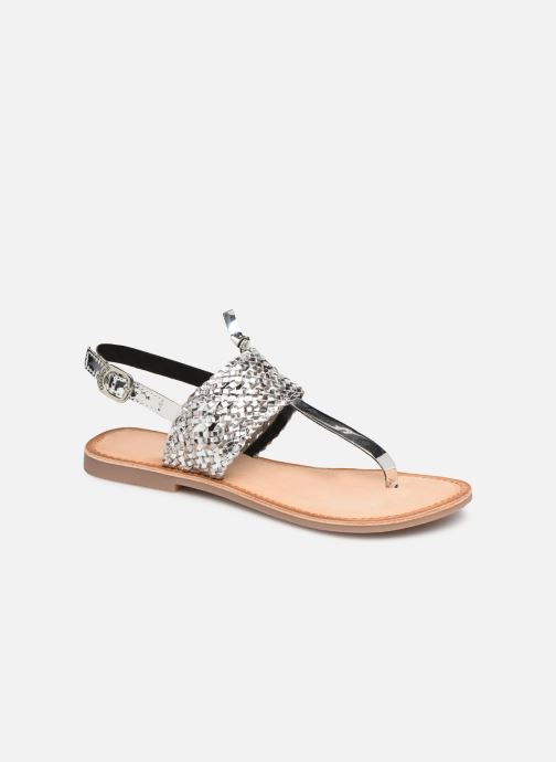 Sandals Gioseppo 44161 Silver detailed view/ Pair view