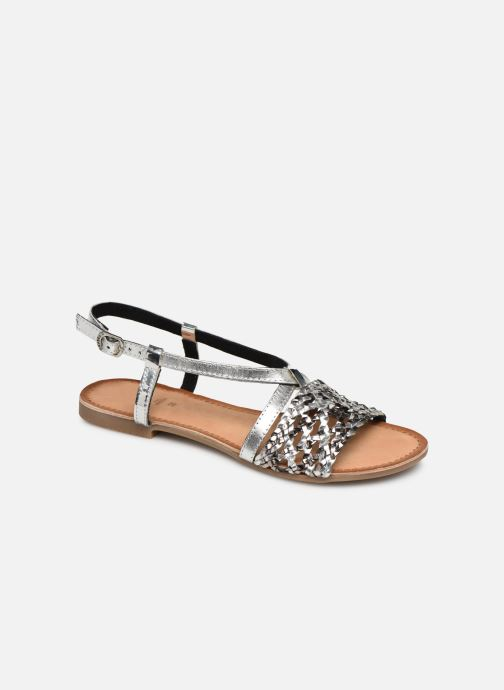 Sandals Gioseppo 44173 Silver detailed view/ Pair view