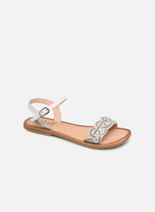 Sandals Gioseppo 45015 White detailed view/ Pair view