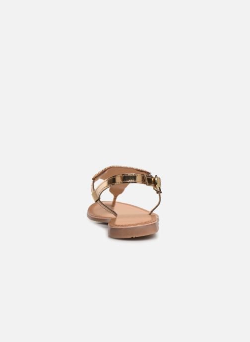 Sandals Gioseppo 45277 Bronze and Gold view from the right