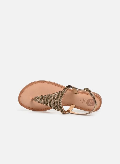 Sandals Gioseppo 45277 Bronze and Gold view from the left