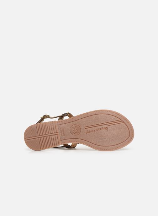Sandals Gioseppo 45277 Bronze and Gold view from above