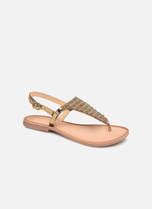 Sandals Gioseppo 45277 Bronze and Gold detailed view/ Pair view