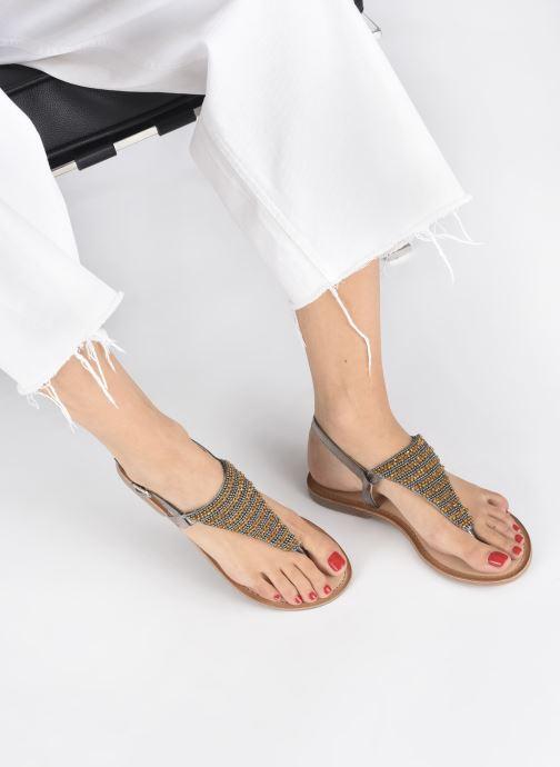 Sandalen Gioseppo 45277 silber ansicht von unten / tasche getragen