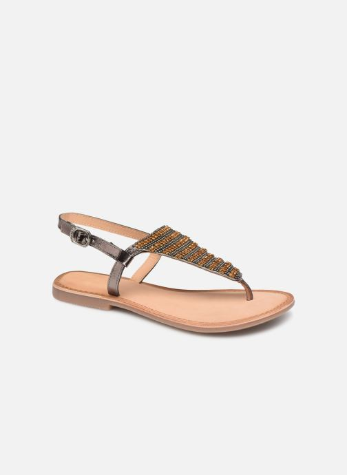 Sandals Gioseppo 45277 Silver detailed view/ Pair view