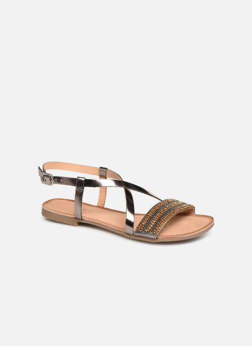 Sandals Gioseppo 45278 Silver detailed view/ Pair view