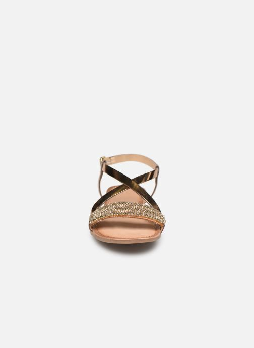 Sandali e scarpe aperte Gioseppo 45278 Oro e bronzo modello indossato