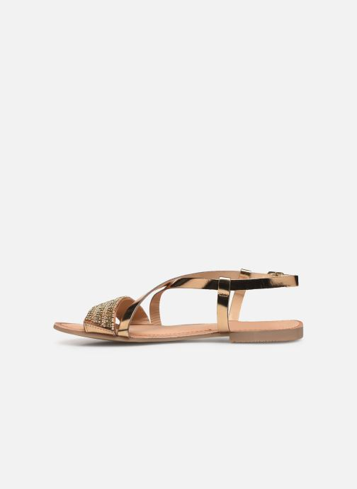 Sandals Gioseppo 45278 Bronze and Gold front view